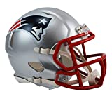 "NFL Unisex Revolution Speed Mini Helm, Unisex, New England Patriots, 7.5"" x 6.5"""