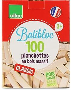 Vilac - Batibloc Classic, 100 Piezas en Madera Maciza (2135)