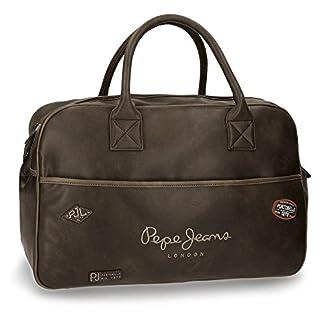 Pepe Jeans Duetone Bolsa de Viaje, 50 cm, 30.4 Litros, Marrón