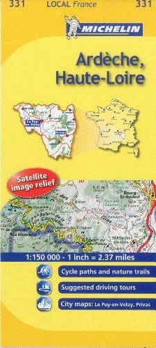 Ardeche, Haute-Loire Michelin Local Map 331 (Michelin Local Maps)