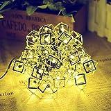 Solar Fairy Light, Outdoor Lichterketten 20 LEDs Warm White Garden Lights für Haus Wand Weihnachtsbaum Hochzeit, Party 2 Funktionen 4.8m / 15.76ft Länge mit 1,5m / 5ft Länge