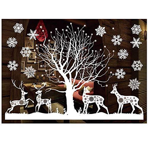 ODJOY-FAN Weiß Entfernbar Fenster Aufkleber Weihnachten Wandtattoos Restaurant Einkaufszentrum...