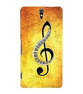 YuBingo Sony Xperia C5 Ultra Dual :: Sony Xperia C5 E5533 E5563 Designer Phone Back Case Cover ( Musical Note )
