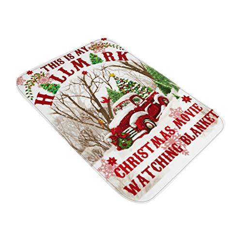 Mumuj Decorazione Natalizia, Albero di Natale, Babbo Natale, Adesivo per Pavimento, Stampa di Natale, per Porta, Bagno, Pavimento, 40 x 60 cm