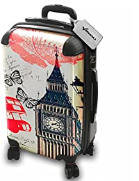 Colección 138, Custom Maleta Rigida Equipaje con 4 Ruedas de 360° Spinner Trolley Hand Case Shell Cover Trolley Travel Bag