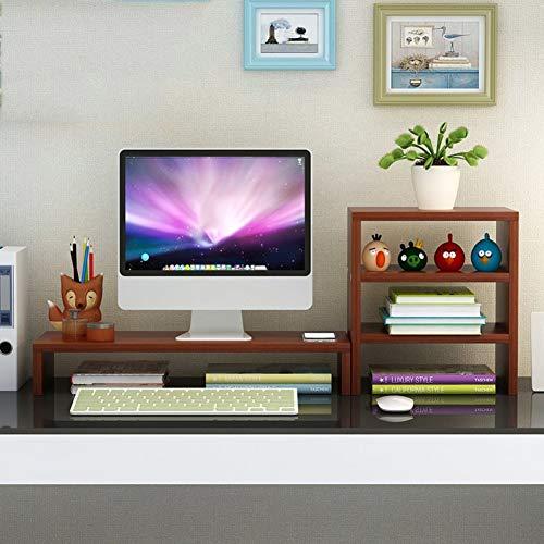 Holz Monitorständer Bildschirm Computerstand Unterstützung Base Regal Mit Lagerung Bücherregal Laptopständer Laptop Ständer Inctease Dauerhaft Tv Drucker Fax-f 75x20x27cm(30x8x11inch) - F/ Fax