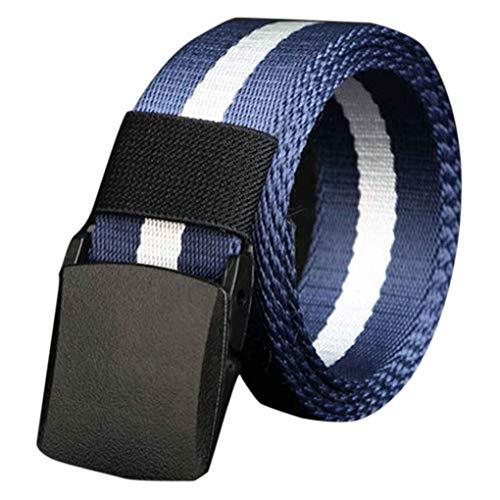 Zerama Herrengürtel kein Metall Kunststoff Schnalle Leinwand im Freien Gürtel lässige Jeans Gürtel (Die Abfertigung Waren)