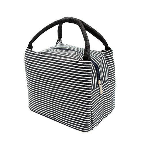 Puersit, borsa termica a secchiello, per pranzo, picnic, da viaggio, nylon, black, 0.2*0.17