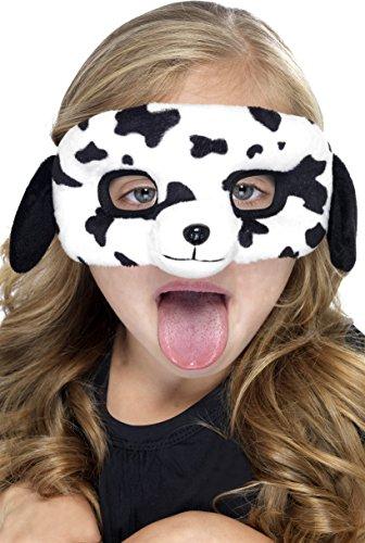 Smiffy's - Dalmatinermaske Hundemaske für Kinder Augenmaske Tiermaske Maske Plüsc