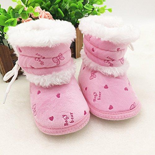 ElecMotive® Winter Weich Warm Babyschuhe Lauflernschuhe Krabbelschuhe Kleinkindschuhe in verschiedenen Farben Pink