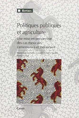 Politiques publiques et agriculture: Une mise en perspective des cas mexicain, camerounais et indonésien