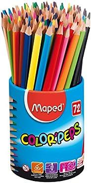 Maped Color'Peps 832000 Pot de 72 crayons de coul