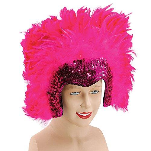 Bristol Novelty BA816 Luxus Kopfbedeckung mit Federn, Rosa, Damen rose Einheitsgröße