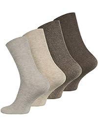 Lot de 8 paires de chaussettes sans élastique - coton - pointe remaillée main - diabétique