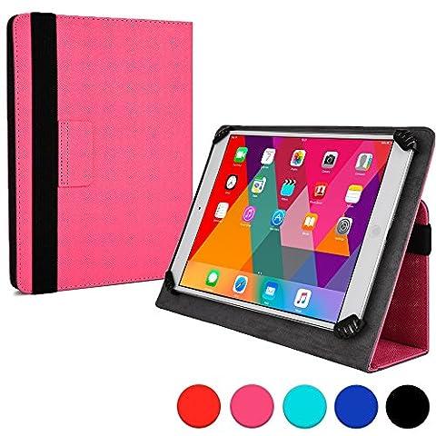 """Lenovo ThinkPad Tablet 2 10.1"""" Foliohülle, COOPER INFINITE UNIVERSAL tragbare Aktentasche für Büro, Schule, Reisen, Schutzabdeckung mit integrierter Standfunktion (Pink)"""