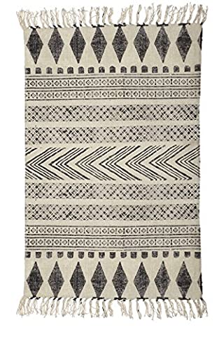 Rug, Block, grey/black, 60x90 cm, 100%