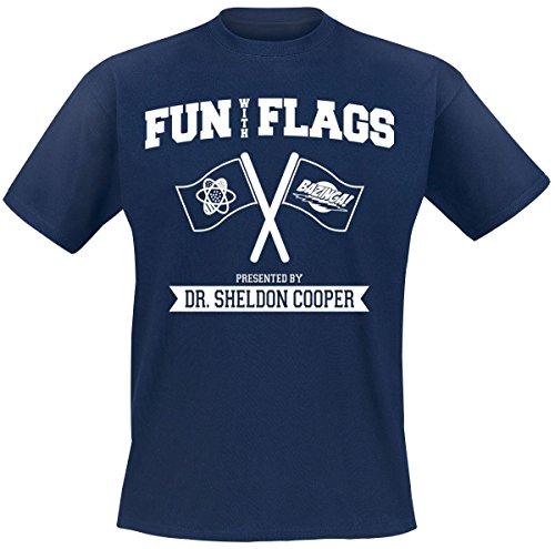 The Big Bang Theory Fun With Flags T-Shirt Navy XXL (Big Bang Machine)