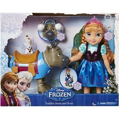 Jakks Pacific- Muñeca de Disney Frozen - Anna, Sven & Olaf de Jakks
