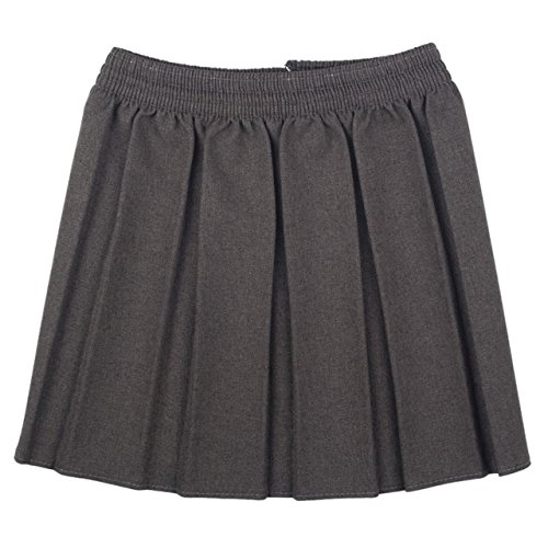 Girls School Uniform Formal Wear vita elasticizzata, pieghettato, elastico gonna Grey 13-14 anni