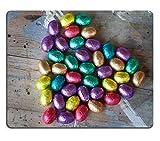 luxlady Gaming Mousepad ID: 43573072Chocolate Huevos de Pascua envuelto en color aluminio