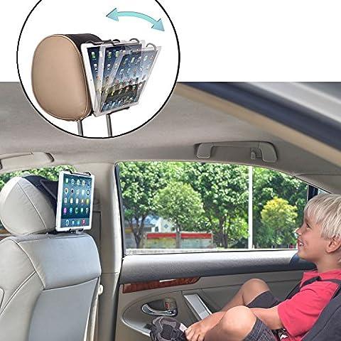 TFY Support pour Appuie-tête de Voiture avec Angle Ajustable pour Tablettes - iPad 2 / 3 / 4 - iPad Mini - iPad Air - iPad Pro - Smasung Tablettes