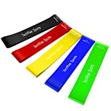 Resistance Loop Bands, Exercise Bands, TechRise Set of 5 Natural Latex Fitness Bands for Workout and...