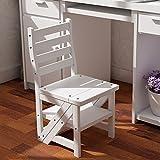 LIXIONG Leiter Sitz Stuhl Falte Dual-Use-Multifunktions-Regale 4 Stufen Leiter Haushalt Mahlzeit Hocker, 4 Farben, 84 cm Hoch Bibliothekshocker (Farbe : Weiß)