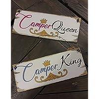 Camping Queen und Camping King Schilderset