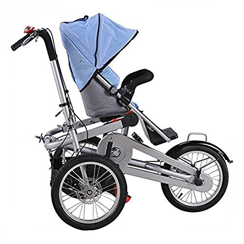 Mother's Bicycle Baby Stroller 16 inch Pushchair 3 Wheel Bike Folding Child Cargo Bicycle MBTS01 51htJpAr3sL