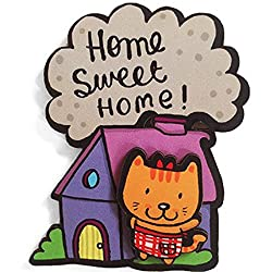 Alicia Souza Home Cat Magnet-Mdf (LXWXH)(7 cmX6.2 cmX7 cm) Weight (18 g)