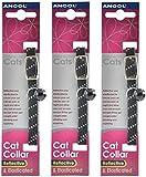 3 x Saver - Ancol - Reflective Softweave Cat Collar Black