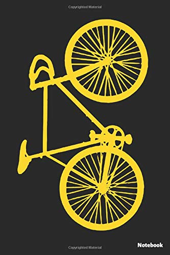 Notebook: Bicycle yellow (lined paper)