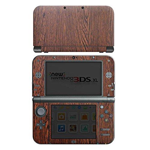 Nintendo New 3DS XL Case Skin Sticker aus Vinyl-Folie Aufkleber Nussbaum Holz Look Holzboden