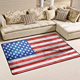 YYERINX American Flag Polyester Area Rug Entry Way Doormat Multipattern Door Mat Floor Mats Shoes Scraper Home Dec Anti-Slip Indoor/Outdoor