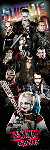 empireposter Suicide Squad - Collage - Tür-Poster Door Poster - XXL-Format Film Kino TV Action Größe 53x158 cm