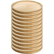 Ruibal - Platos para Pulpo de Madera - Set de 12 - Ø 12 cm