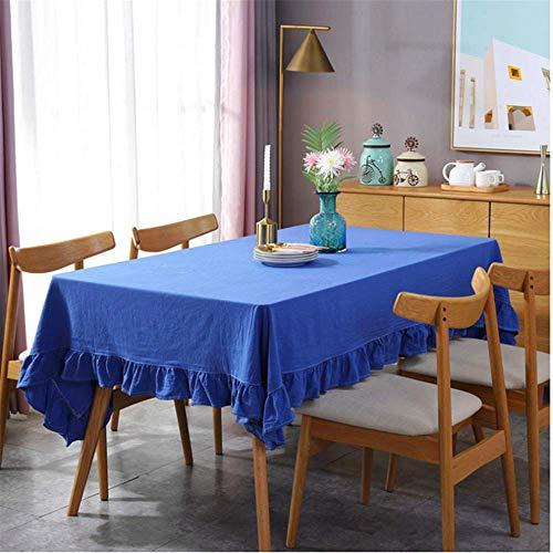 SONGHJ Flounced Tischdecke Plissee Baumwolle Lotus Spitze Tisch Abdeckung Scheibe Falten Stoff Gemütliche Komfortable Tisch Tuch C 140x260cm -