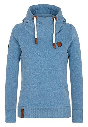 Naketano Female Hoody Schmierlappen IX Light Blue Melange, L (Light Blue Damen-shirt)
