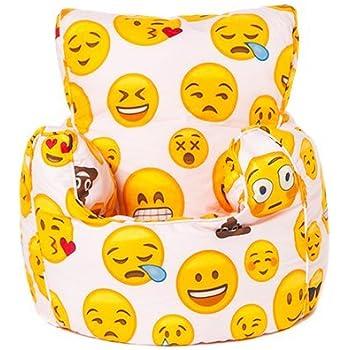 Ready Steady BedR Emoji Girl Design Childrens Bean Bag Chair