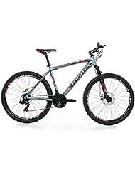 "Moma - Bicicleta Montaña Mountainbike 27,5"" BTT SHIMANO, aluminio, doble disco y suspensión, M (1,60-1,74m)"