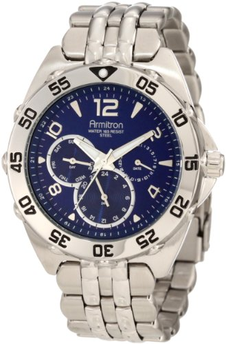 armitron-mens-204664blsv-silver-tone-stainless-steel-multi-function-blue-dial-sport-watch