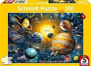Schmidt Spiele Puzzle 56308Nuestro Sistema Solar, 200Piezas Niño Rompecabezas