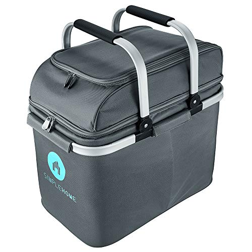 SimpleHome Wasserdicht Picknicktasche Große Kühltasche für Familien Picknick | 30L faltbar Lunchtasche Thermotasche mit zweistöckig Design für Camping, Strand, Ausflüge, Grillen.