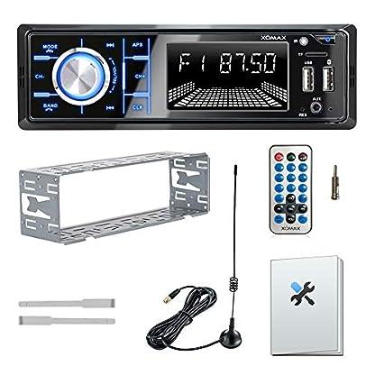 XOMAX-XM-RD267-Autoradio-mit-DAB-Tuner-und-Antenne-I-Handy-Aufladen-ber-2-USB-Anschluss-I-Bluetooth-Freisprecheinrichtung-I-RDS-I-2X-USB-SD-AUX-I-1-DIN