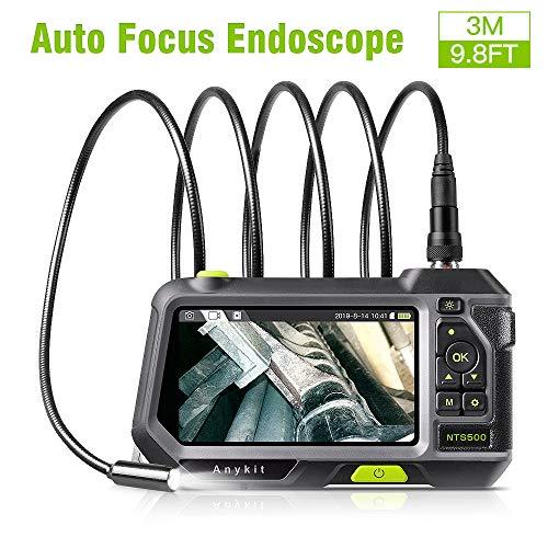 Anykit Endoskop, Hand Endoskopkamera Automatische Fokussierung mit 5,0-Zoll-1080P-HD IPS LCD, Eingebaute 3500-mAh-Akku, 14,5 mm Durchmesser IP67 Wasserdichtes Inspektionskamera (3 M)
