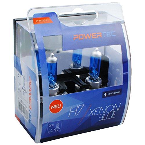 M-Tech ptzxb7Coque Duo H7Xénon ampoule halogène 55W-Bleu-Numéro 2