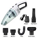 Aspirapolvere senza fili 120 W (Asciutto e Asciutto) Aspirapolvere senza filo Aspirapolvere per auto/Casa (Bianco)