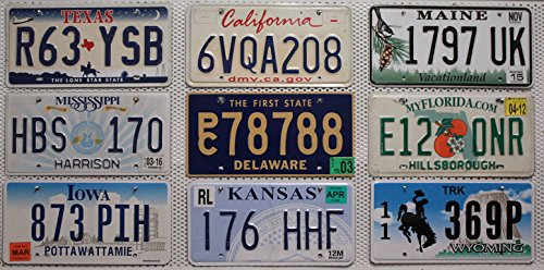 9er-kennzeichen-set-lot-us-nummernschilder-kalifornien-kansas-florida-texas-wyoming-maine-delaware-m