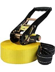 Slackline 15 + 2 m King (cargas hasta 3 toneladas) de BB Sport, Slacklines Color:amarillo