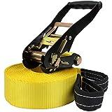 Slackline 13 + 2 m (Belastbarkeit: 2 Tonnen), Farbe:gelb
